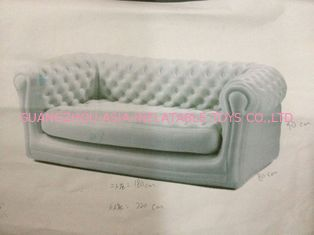 ประเทศจีน White Pvc Tarpaulin Inflatables Furniture ,  Inflatable White Couch Sofa For Living Room โรงงาน