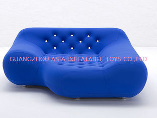 ประเทศจีน Eco-Friendly Pvc Airtight Advertising Inflatables Air Sofa Chair In Dark Blue Color โรงงาน