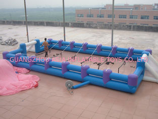 Safe Giant Soccer Field Inflatable Football Playground Indoor / Inflatable Soccer Field