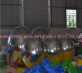 Fireproof PVC Reflection Inflatable Advertising Balloons Mirror Ornaments