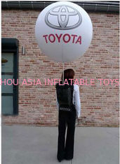 Advertising Inflatables Backpack Balloon With 210t Polyester Cloth For Outdoor Entertainment