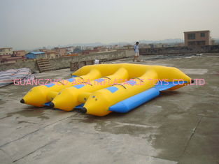 ประเทศจีน Hot Air Welded Inflatable Flying Fish Boat for 6 Passengers โรงงาน