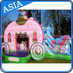 ประเทศจีน Inflatable Royal Carriage Moonwalk Bouncer For Children Party Hire Games โรงงาน