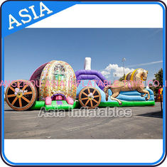 ประเทศจีน Outdoor Inflatable Horse Carriage Jumping Castle with Slide For Children โรงงาน