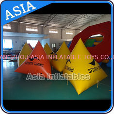 ประเทศจีน Floating Striking Marker Inflatable Buoy  For Water Triathlons Advertising โรงงาน