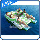 Capacity 6 Persons Inflatable Island Floating Lounge Inflatable Water Lounge ผู้ผลิต