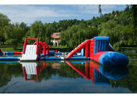 Lake Big Floating Aqua Park / Inflatable Obstacle Course For Business ผู้ผลิต