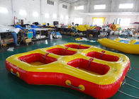 Fun Beach Surfing Water Sport Games / Inflatable Flying Towable Tube ผู้ผลิต