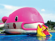 Water Floating Games, Inflatable Obstacle Course In Pink Whale Model ผู้ผลิต