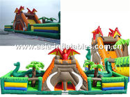 Giant Inflatable Fairground In Caribbean Pirate Ship Design For Kids Amusement Park ผู้ผลิต