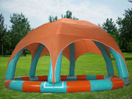 Family Size Kids Inflatable Pools With Tent Cover ผู้ผลิต