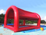 Red Colour UV Protected Kids Inflatable Pool with Tent for Sports Games ผู้ผลิต
