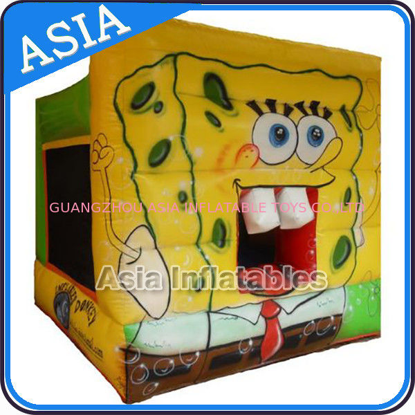 Lovely Inflatable Sponge Bob Cartoon Bouncy Castle For Party Hire Games ผู้ผลิต