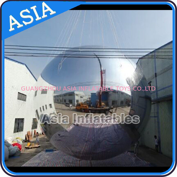 Silver Customized 8m Advertising Inflatable Commercial Mirror Balloon ผู้ผลิต