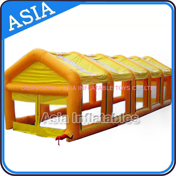 Dismantle PVC Large Tent Inflatable Paintball Field Easy To Store ผู้ผลิต