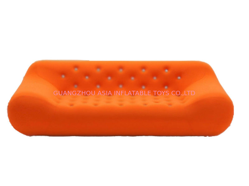 Home Chesterfield Orange Inflatable Sofa For Watching Tv ผู้ผลิต