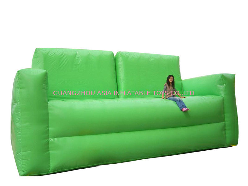 Soft Green Inflatable Chair Sofa For Homes Use , Portable Inflatable Sofa Chair ผู้ผลิต