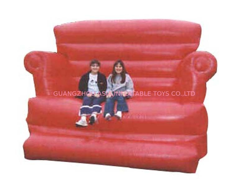 Large Red Design Advertising Inflatable Sofa Furniture , Inflatable Couch Furniture ผู้ผลิต