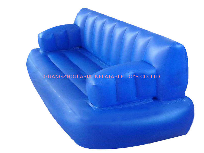 Water Floating Blue Inflatable Sofas And Couches For Sleeping With Commercial Quality ผู้ผลิต