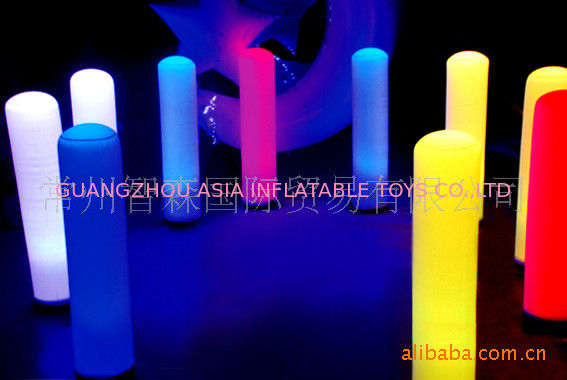 Led Inflatable Pillar Lights For Party / Wedding Decoration ผู้ผลิต
