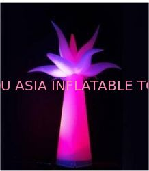 Taffeta Fabric Inflatable Lighting , Color Lights For Party ผู้ผลิต