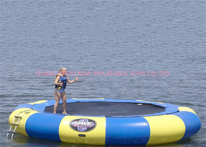 15' Rave aqua jump eclipse, water trampoline , inflatable jumping trampoline ผู้ผลิต