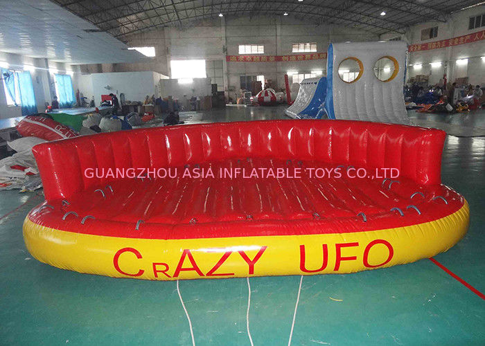 5 Person Towable Water Tubes Inflatable Crazy UFO Inflatable Sports Water Games ผู้ผลิต