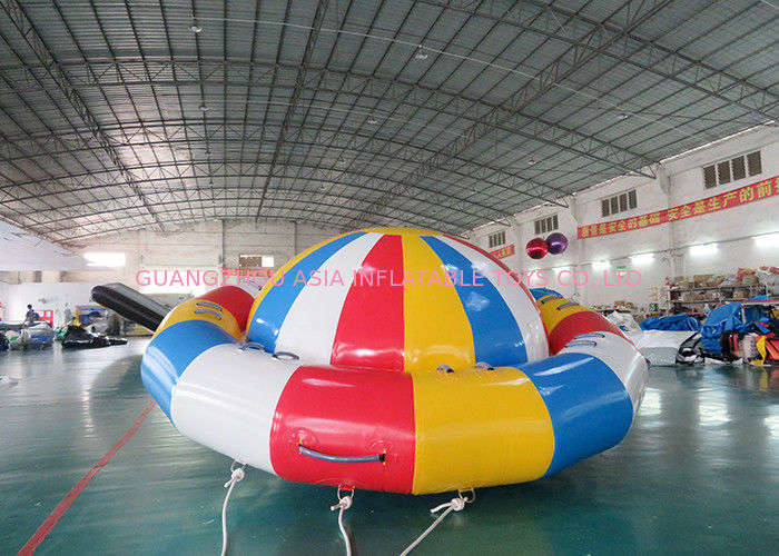 Ocean Disco Boat Inflatable Towable Tube / Floating Spinner Boat ผู้ผลิต