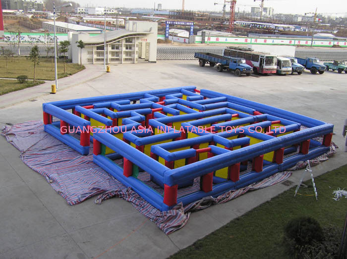 Inflatable Tunnel Maze Game, Inflatable Maze Field For Chilren ผู้ผลิต