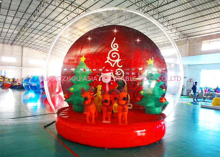 Holiday Decoration Large Christmas Inflatable Snow Globe 3m To 8m Diameter ผู้ผลิต