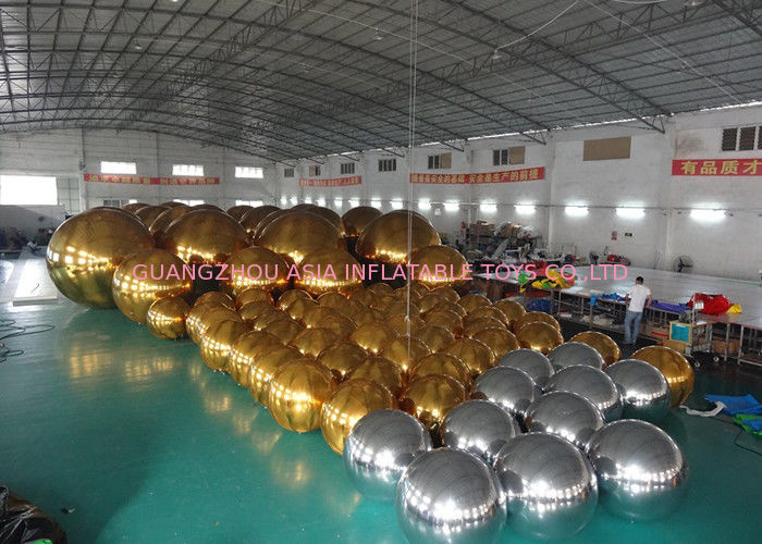 Outdoor Live Concert Advertising Inflatables Decoration Sliver Reflect Inflatable Mirror Balloon ผู้ผลิต