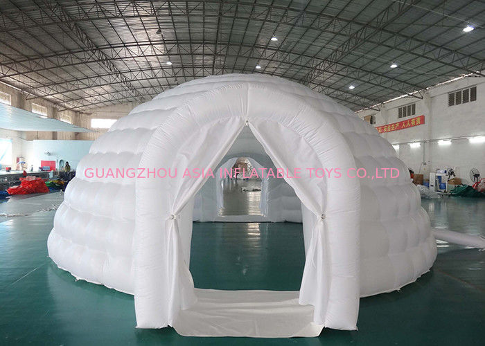 Outdoor Advertising Inflatable Igloo Dome Tent For Trading Fair / Wedding