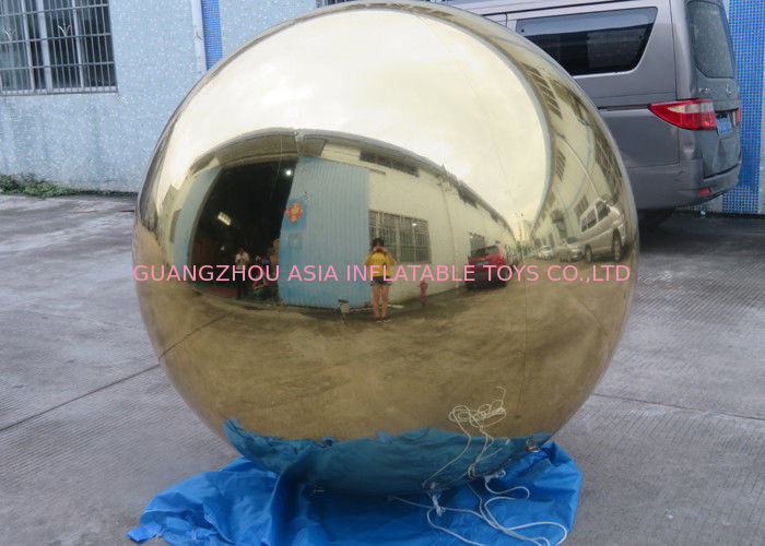Inflatable Gold Mirror Balloon With Reflection Effect For Decoration On The Floor ผู้ผลิต