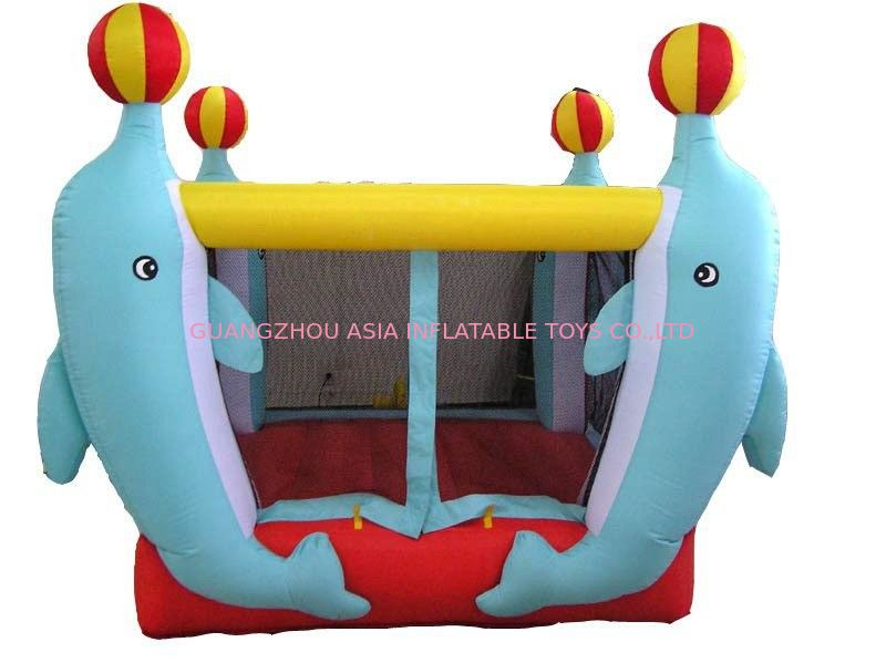 3.5ml Inflatable Amusement Park With Mini Dolphin For Entermainment ผู้ผลิต