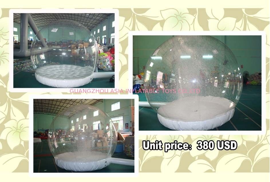 Customize EN71 Inflatable Snow Globe with Snow Machine ผู้ผลิต