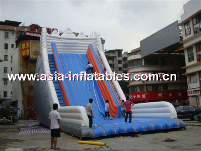 Giant Inflatable Water Slide With Single Lane For Sand Beach Games ผู้ผลิต