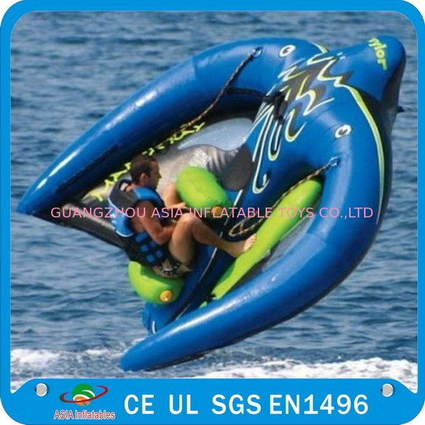Towable Inflatable Manta Ray Fish Boat, Inflatable Water Park Games ผู้ผลิต