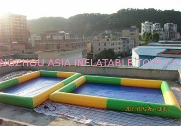 Colored Rectangular Kids Inflatable Pool for Water Park Games Using ผู้ผลิต