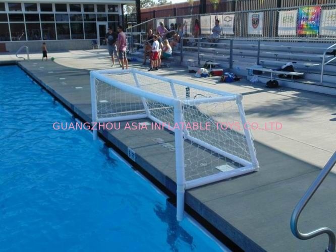 Pure White PVC Inflatable Water Sports , Pool Floating Water Polo Goals ผู้ผลิต