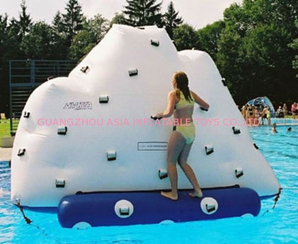 3m Height Inflatable Water Sports , Inflatable Climbing Wall With Water Slide ผู้ผลิต