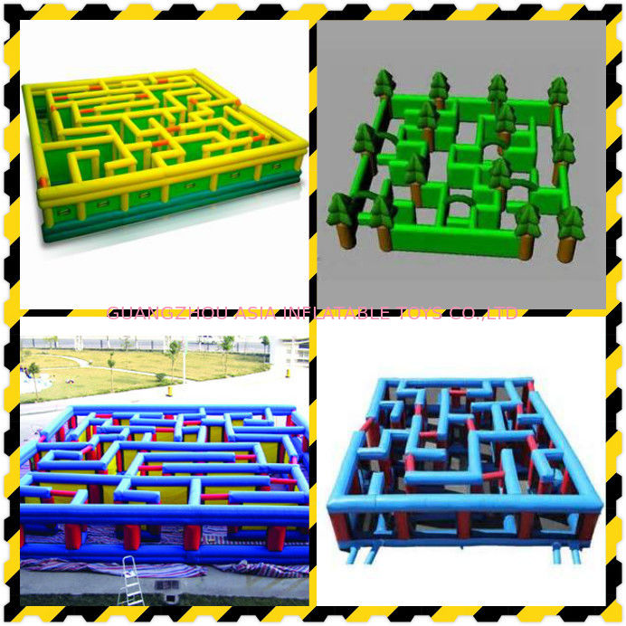 Inflatable Labyrinth, Ourdoor Inflatable Maze Games For Business Promotion ผู้ผลิต