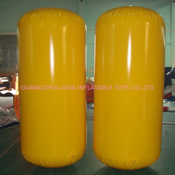 Cylinder Inflatable Buoy Water Games , Inflatable Air Buoy For Swimming Event ผู้ผลิต