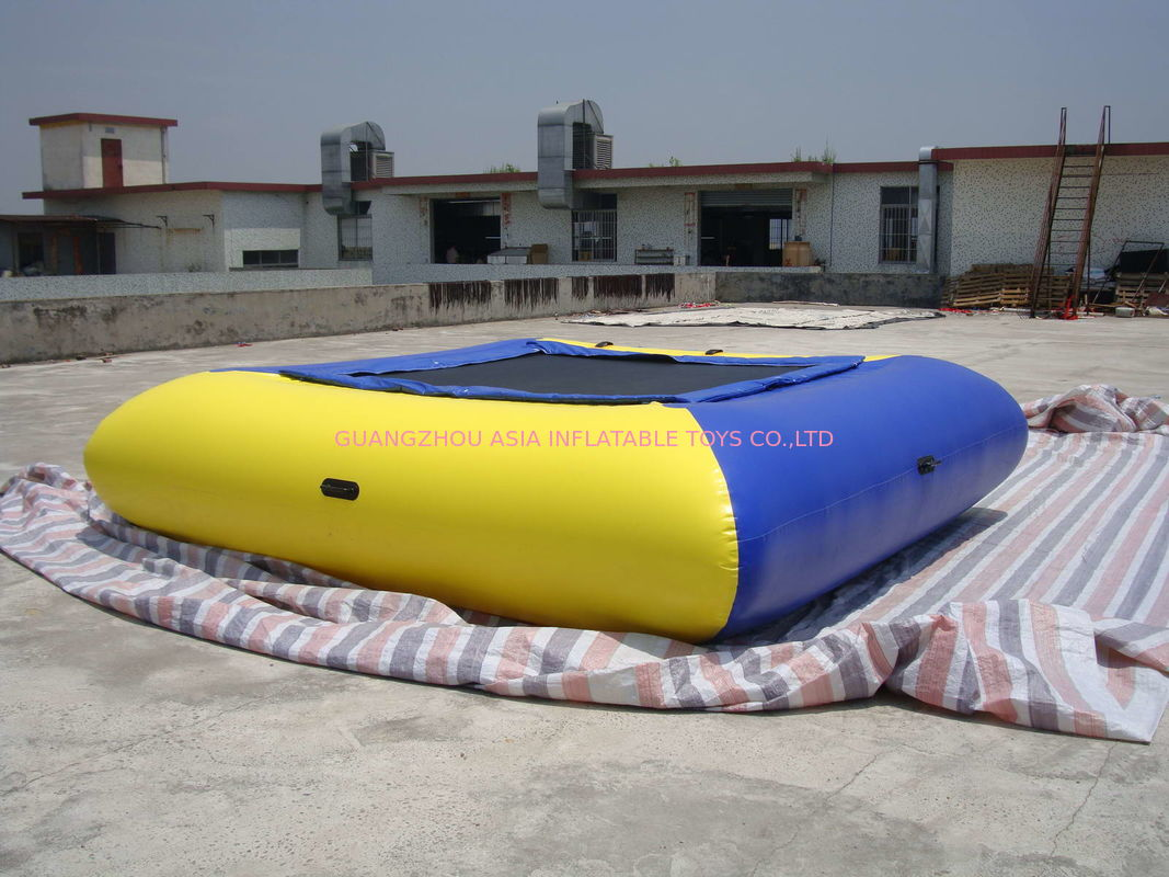 Air Tight Inflatable Water Square Trampoline Water Toys For Water Sport Games ผู้ผลิต