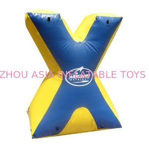 Entermainment Usgae Weave String Structure Inflatable Paint Bunker Trampoline Combo ผู้ผลิต