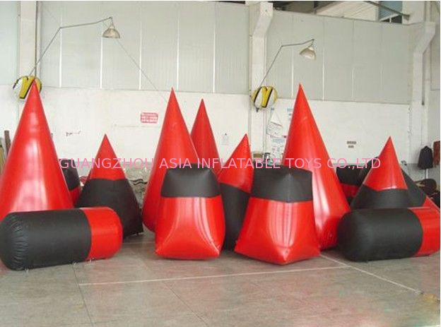 High Density, PVC tarpaulin Inflatable Paint Bunker Trampoline Combo ผู้ผลิต