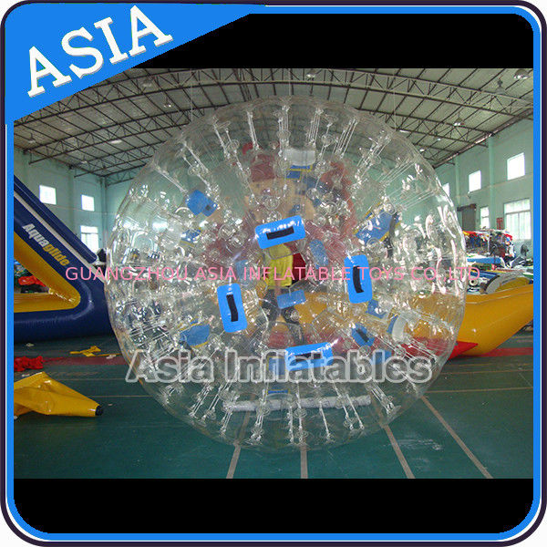 0.8mm Pvc Clear Inflatable Water Zorb Ball With Double Entrance For Adult ผู้ผลิต