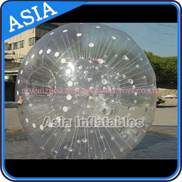 Grass Used One Entrance Zorb Water Ball In 0.8mm Pvc For Rental Business ผู้ผลิต