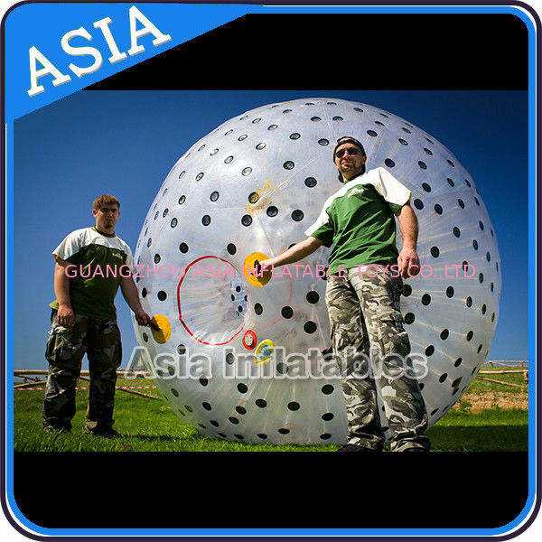 Inflatable Color Dots Aqua Zorbing Ball Played On Grassland / Water ผู้ผลิต