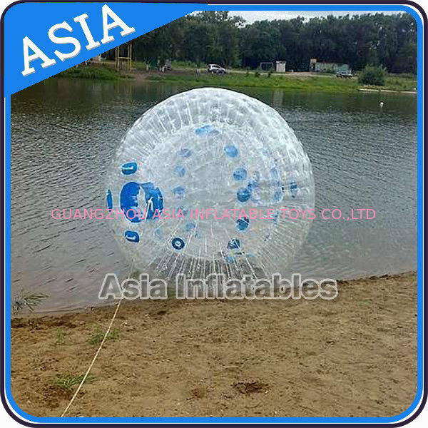 Transparent 1.0mm PVC Aqua Zorbing Ball With Color Dots For Pool Use ผู้ผลิต