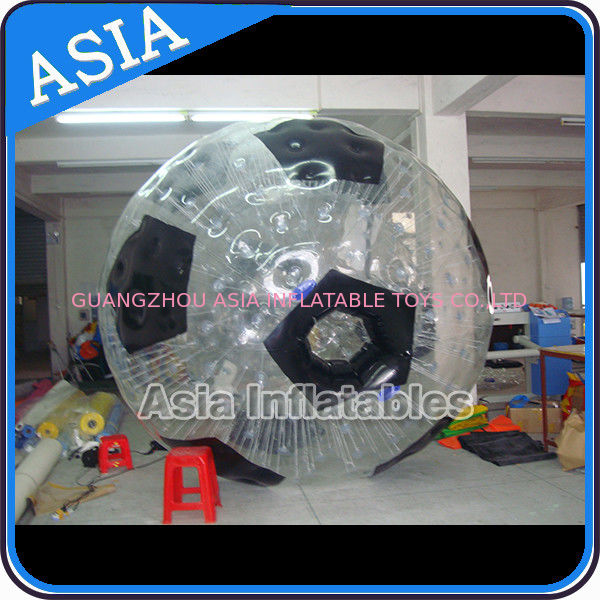 Football Shape Inflatable Zorb Ball , Zorbing Ball Used On The Sea ผู้ผลิต